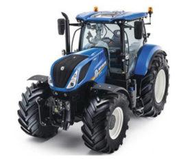 tracteur agricole bleu