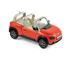 voiture du futur rouge decapotable