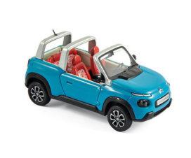 voiture du futur bleue decapotable