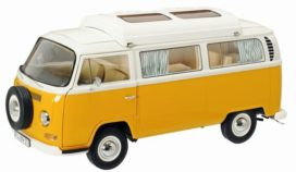 vieux camping bus jaune