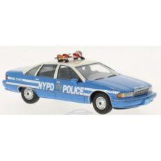 voiture de police americaine bleu