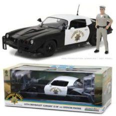 vieille voiture de police noire et blanche