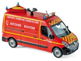 camionette de pompiers rouge