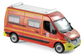 camionette pompiers rouge