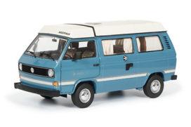 vieux bus camping bleu
