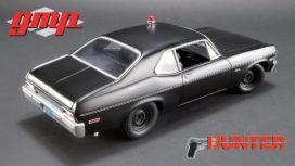 vieille voiture de police noire