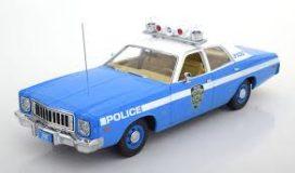 vieille voiture de police bleu
