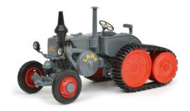 vieu petit tracteur gris