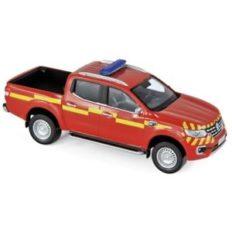 jeep de pompiers rouge