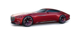 voiture futuriste rouge