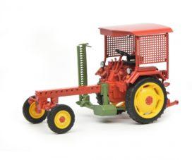 vieu tracteur agricole rouge