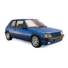 vieille petite voiture de sport bleu