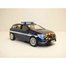 voiture break de police bleu