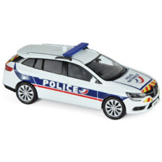 voiture break blanche de police
