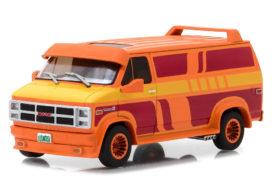 vieille camionnette rouge et orange