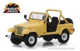 vieille jeep jaune decapotable