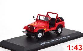 vieille jeep rouge decapotable