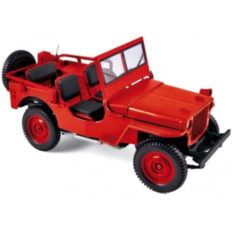 vieille jeep rouge
