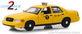vieux taxi americain jaune