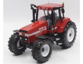 vieux tracteur agricole rouge et blanc