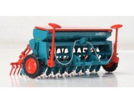 machine agricole vert et rouge
