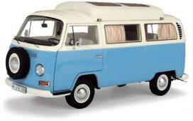 minibus camping car bleu