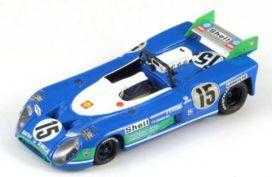 vieille voiture de course blanc et bleu