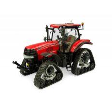 tractore agricole rouge sur chenilles