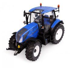 gros tracteur agricole bleu