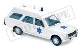 vieille voiture break blanche ambulance