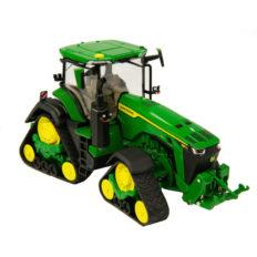 gros tracteur agricole vert sur chenilles