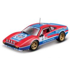 vieille voiture de course bleu et rouge