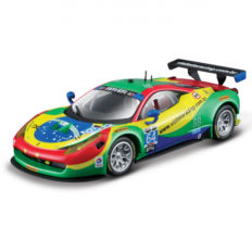 voiture de course rouge vert et jaune