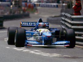 vieille voiture de course formule 1 bleu