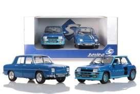 pack de 2 vieilles voitures de sport bleu
