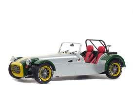 vieille voiture de sport grise et verte