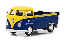vieux minibus pick up jaune et bleu