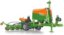 machine agricole orange et verte