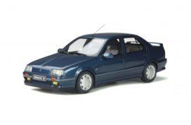 vieille voiture sportive 4 portes bleu