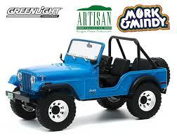 vieille jeep bleu