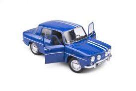 vieille voiture de sport bleu avec bandes blanches