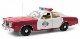 bieille voiture de police rouge et blanche