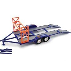 plateau pour transport voiture bleu