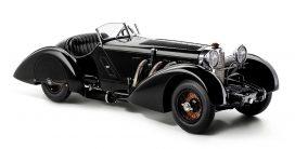 vieille voiture de luxe cabriolet noir