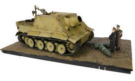 vieux tank allemand brun