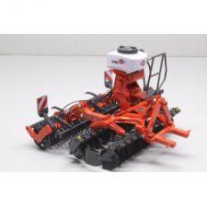 machine agricole rouge